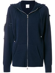 Barrie Cashmere Hoodie Blue