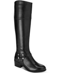 Alfani Women's Biliee Riding Boots Only At Macy's Women's Shoes Black