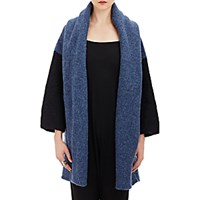 Lauren Manoogian Women's Capote Open Front Coat Blue