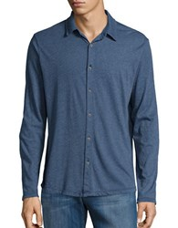 Velvet By Graham And Spencer Jery Button Down Shirt Blue
