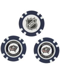 Team Golf Columbus Blue Jackets 3 Pack Poker Chip Golf Markers