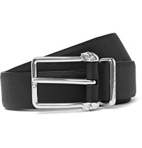 Alexander Mcqueen 3Cm Black Full Grain Leather Belt Black