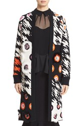 Opening Ceremony Women's Embellished Mix Print Long Cardigan
