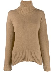 Jejia Rollneck Knit Sweater Neutrals