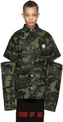 Hood By Air Green Camo Uniform Fractured Shirt