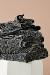 Kassatex Francesca Sculpted Paisley Towel Collection Grey