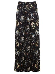 Miss Selfridge Woodland Print Wrap Maxi Skirt Multi Coloured