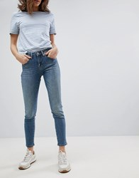 Selected Cropped Jeans Blue Water