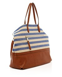 Splendid Emerald Bay Tote Metalic Blue Stripe