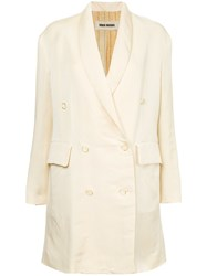 Uma Wang Tailored Fitted Coat Nude And Neutrals