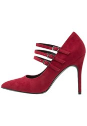 Anna Field High Heels Dark Red