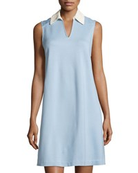 Nanette Nanette Lepore Lace Collar Sleeveless Dress Blue Ivy