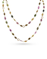 Dominique Cohen 18K Rose Gold Tourmaline And Bamboo Link Necklace 42 L