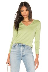 525 America Classic V Neck Sweater Green