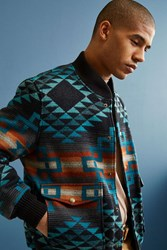 Pendleton Gorge Wool Bomber Jacket Blue Multi