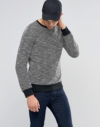 Another Influence Marl Sweater Black