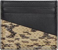 Jil Sander Black Python Trimmed Card Holder