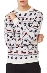 Topman Men's Christmas Fair Isle Sweater
