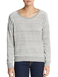 Candc California Heathered Dropped Shoulder Pullover Heather Grey