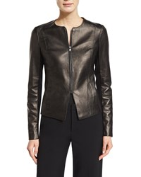 Vince Tailored Slim Fit Leather Jacket Women's Black