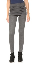 Splendid Thermal Fold Over Leggings Charcoal