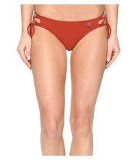 Body Glove Smoothies Tie Side Mia Bottoms Terracotta Women's Swimwear Orange