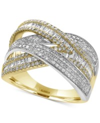 Effy Duo By Diamond Wrap Ring 1 1 4 Ct. T.W. In 14K Yellow And White Gold Yellow White Gold