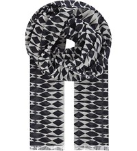 Sandro Mykonos Cotton And Modal Scarf Navy Blue