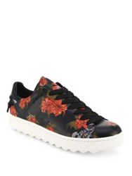 Coach Wild Lily Leather Sneakers Multi
