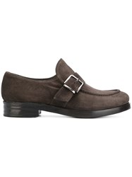 Rocco P. Strap Loafers Leather Brown