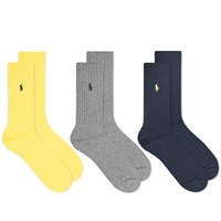 Polo Ralph Lauren Cotton Rib Sock Multi