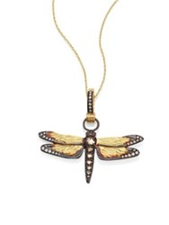 Annoushka Dragonfly Diamond And 18K Yellow Gold Amulet