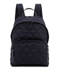 Prada Tessuto Quilted Backpack Navy