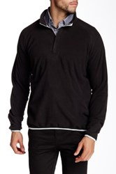 Peter Millar Marseille Hid Zip Fleece Pullover Black