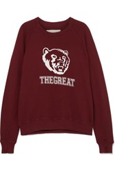The Great College Printed Cotton Sweatshirt Red