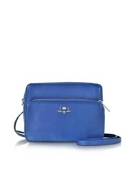 Zadig And Voltaire Quilted Leather Boxy Xl Zip Crossbody Bag Cobalt Blue