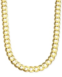 Macy's Cuban Chain Link Necklace In 10K Gold Yellow Gold