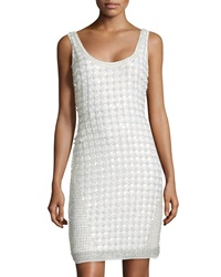Aidan By Aidan Mattox Beaded Tank Dress