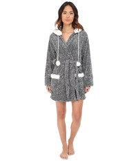 P.J. Salvage Cozy Pom Pom Robe Charcoal Women's Robe Gray