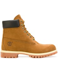 Timberland Classic Original Boots Leather Suede Rubber 41.5 Yellow Orange