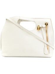 Tom Ford Padlock Tassel Tote Nude And Neutrals