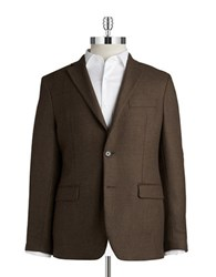 Lauren Ralph Lauren Two Button Wool Blazer Brown