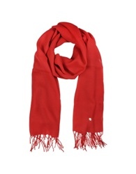 Mila Schon Red Wool And Cashmere Stole