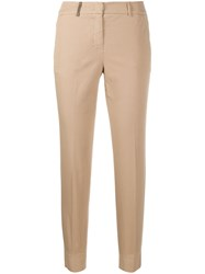 Peserico Slim Fit Tailored Trousers Neutrals