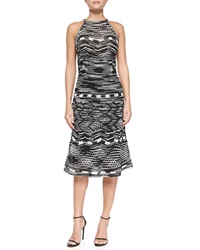 M Missoni Crochet Zigzag Knit Halter Dress With Back Keyhole 38 It 2 Us