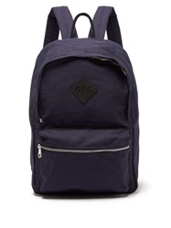 A.P.C. Canvas Backpack Navy