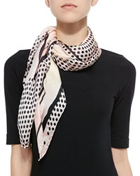 Jimmy Choo Shoe Print Satin Foulard Scarf Women's