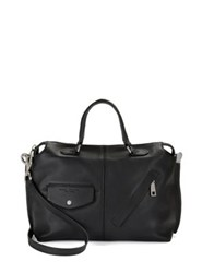 Marc Jacobs The Edge Leather Satchel Bag Midnight Blue