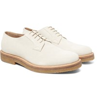 Dries Van Noten Suede Derby Shoes Ecru