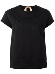 N 21 No21 Open Back T Shirt Black